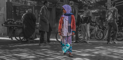 Girl in the heart of Medina - Marrakech | by sityak2000
