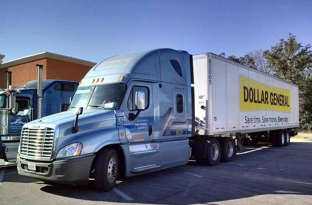 Werner Enterprises Freightliner Cascadia Dollar General Delivery ...