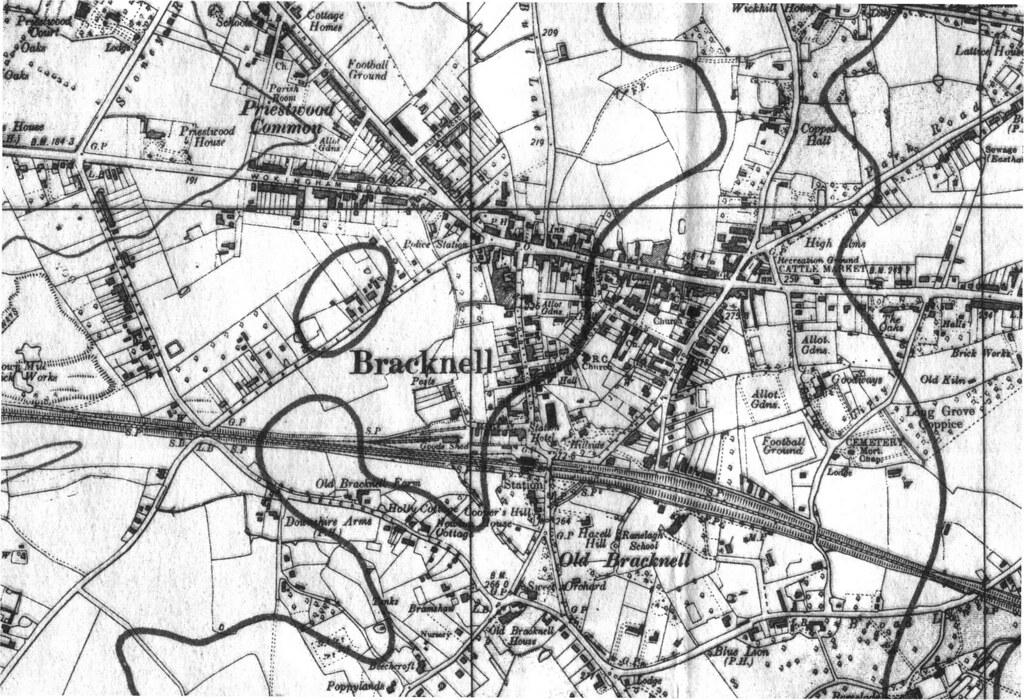 1940 Map of Bracknell town centre Original is 1892 pixels Flickr