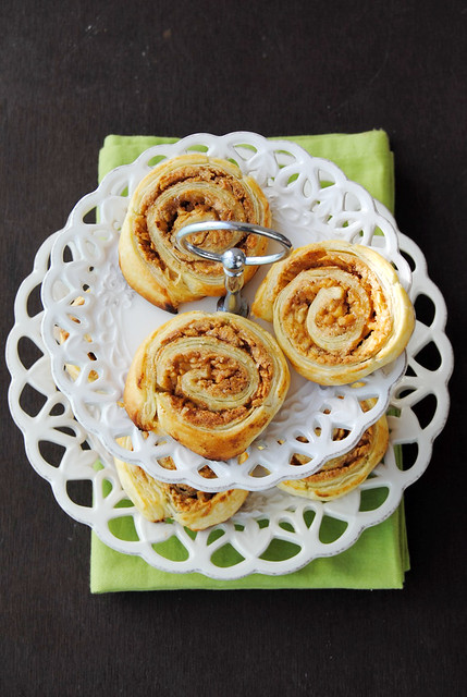 Almond and Apple Puff Rolls