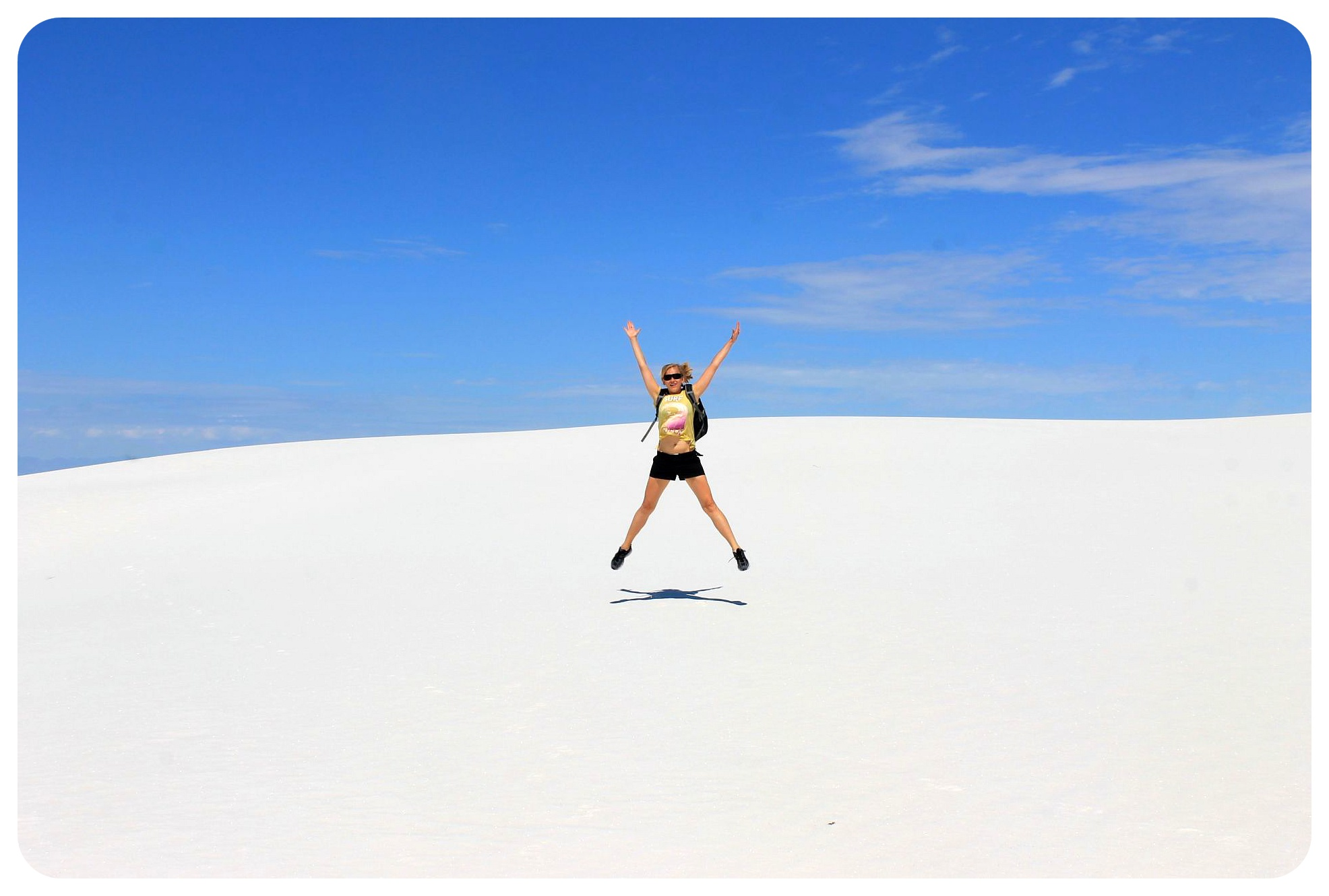 White Sands New Mexico dani jumping