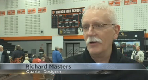 Effigy Mounds quarter designer Richard Masters