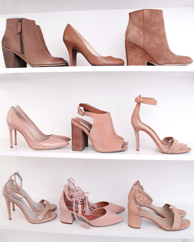 shoe organization shelves _flattering neutral shoes collection