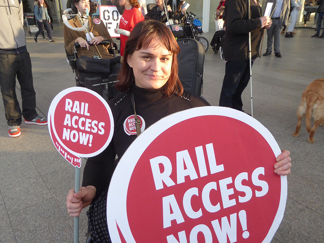 #RailAccessNow – Turn-Up-&-Go protest BEST PICS