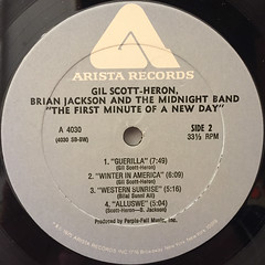 GIL SCOTT-HERON,BRIAN JACKSON AND THE MIDNIGHT BAND:THE FIRST MINUTE OF A NEW DAY(LABEL SIDE-B)