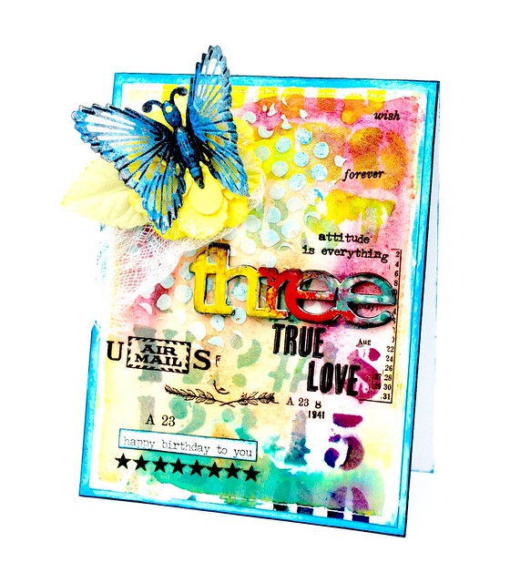 Meihsia Liu Simply Paper Crafts Mixed Media Card Numbers Simon Says Stamp Tim Holtz