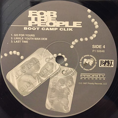 BOOT CAMP CLIK:FOR THE PEOPLE(LABEL SIDE-D)