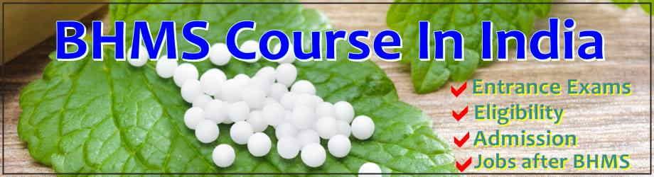 BHMS Course in India