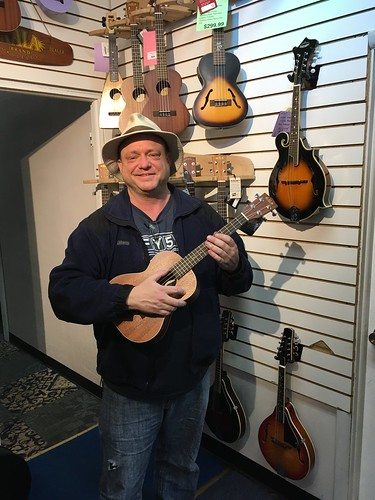 Mike and his Kala Tenor Ukulele