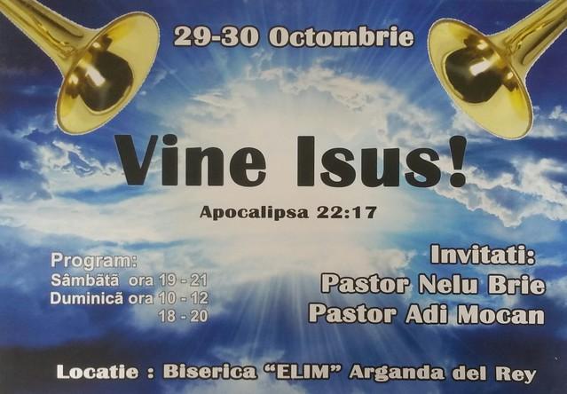29 - 30 Octombrie 2016 - Intruniri spirituale. Tema: