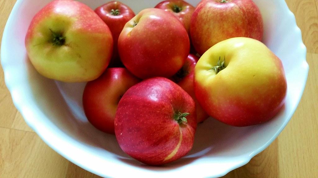 Bereit. Für Apfelkuchen!