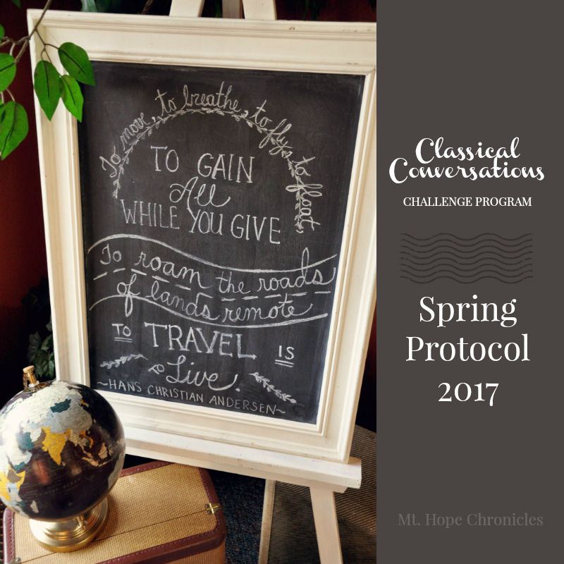 CC Spring Protocol @ Mt. Hope Chronicles