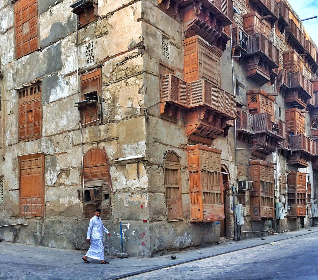 Strolling the streets of old Jeddah. Excited by my first visit to Saudi Arabia.