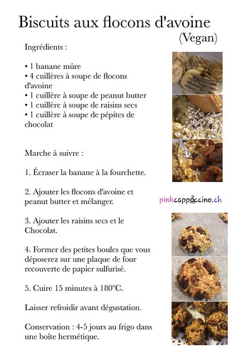 Biscuits aux flocons d'avoine (Vegan) | by pinkcappuccino