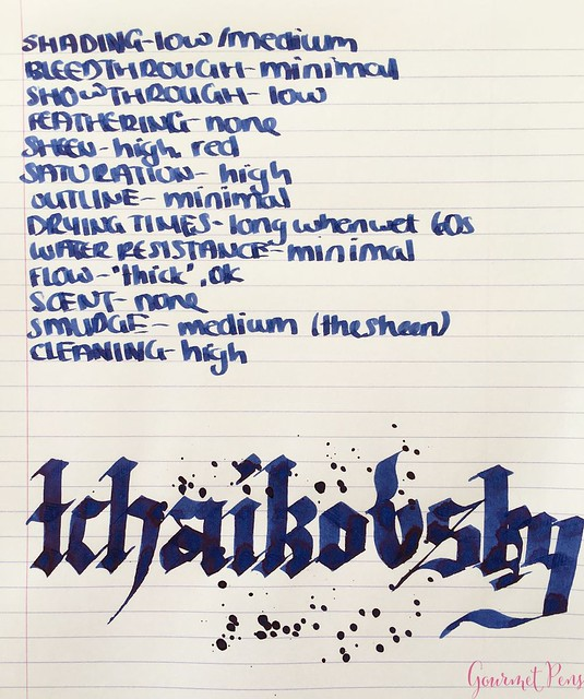 Ink Shot Review Diamine Music Tchaikovsky @AppelboomLaren 5