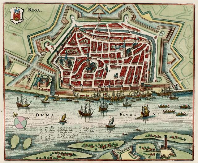 Matheus Merian - Riga (c.1650)