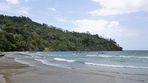 Maracas Bay, Trinidad and Tobago - fishing village side.