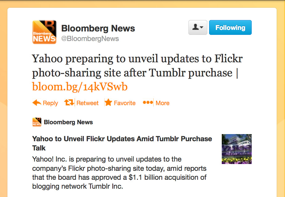 Yahoo! to update Flickr after Tumblr purchase