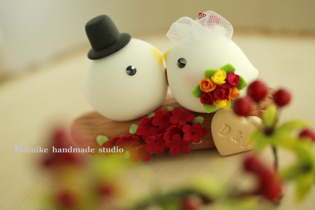 love bird with branch and flowers Wedding Cake Topper | Flickr