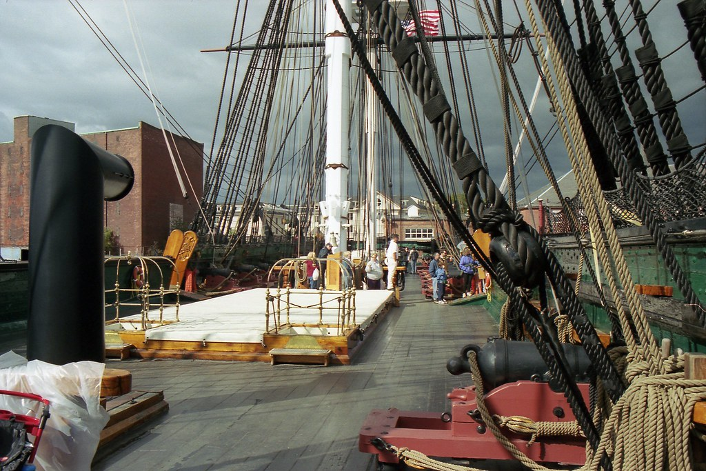 USS Constitution - Spar deck, looking aft | The brass ... Uss Constitution Pictures Of Deck