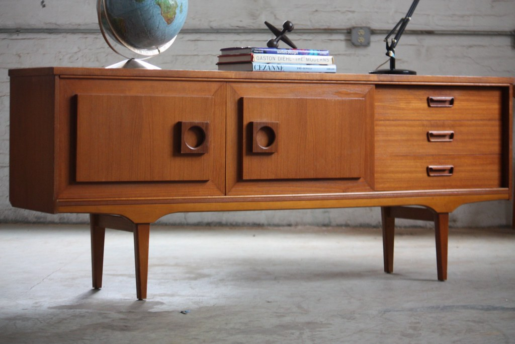 magical plan mid century modern teak credenza for sale plans ebay