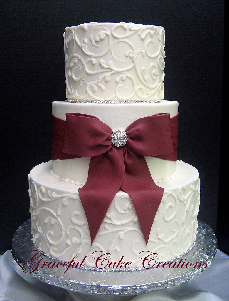 White Wedding Cake With Halloween Theme Revealed By Swags
