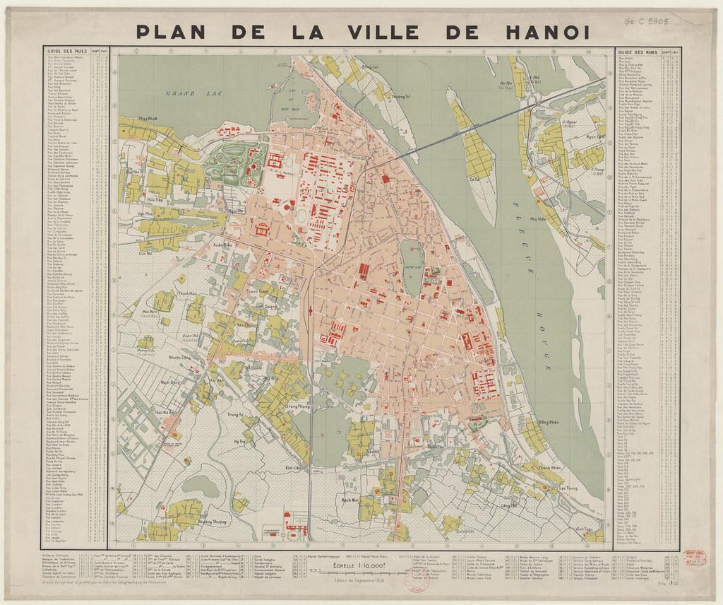 Plan Ville Hanoi