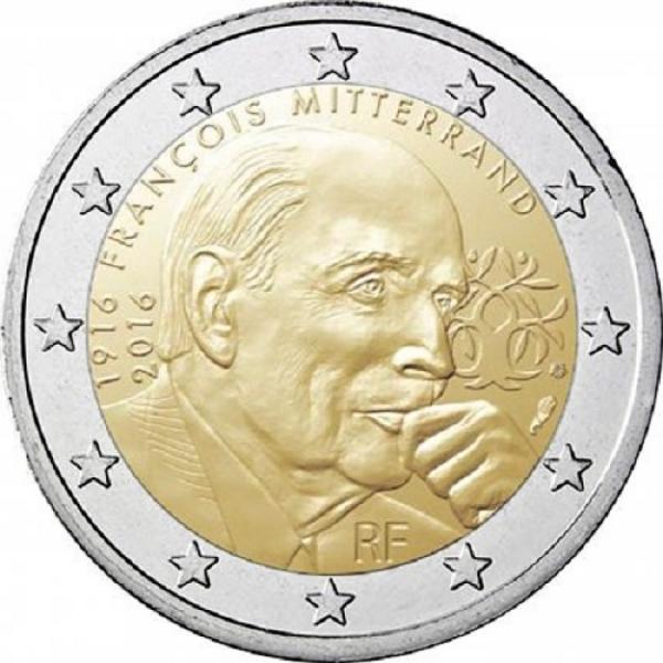 2 Euro Francúzsko 2016, Francois Mitterrand
