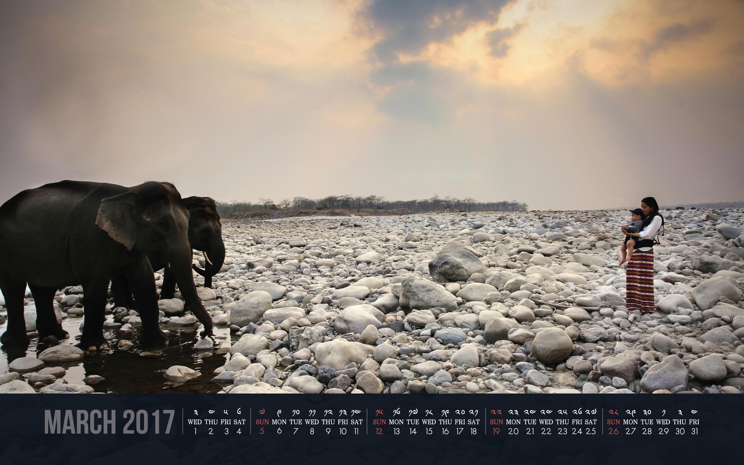 Desktop Calendars For March 2017