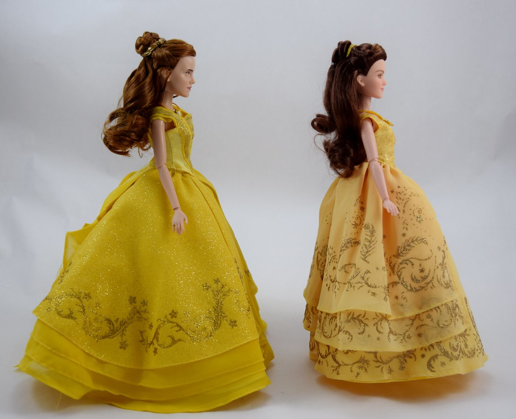 Disney Store DFC Belle vs Hasbro Enchanted Ball Gown Belle… | Flickr