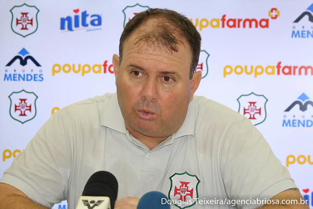 Marcelo Fernandes, técnico da Portuguesa Santista, em coletiva de imprensa após a Briosa vencer o Comercial por 2 a 0