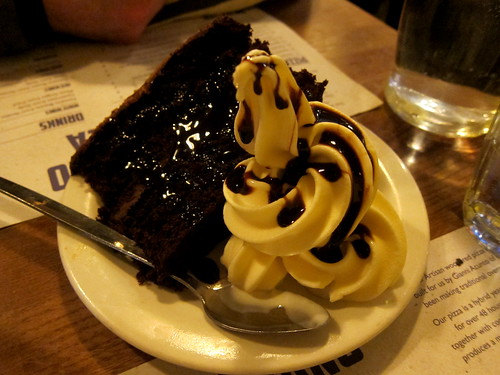 Chocolate Cake and Soft Serve Ice Cream