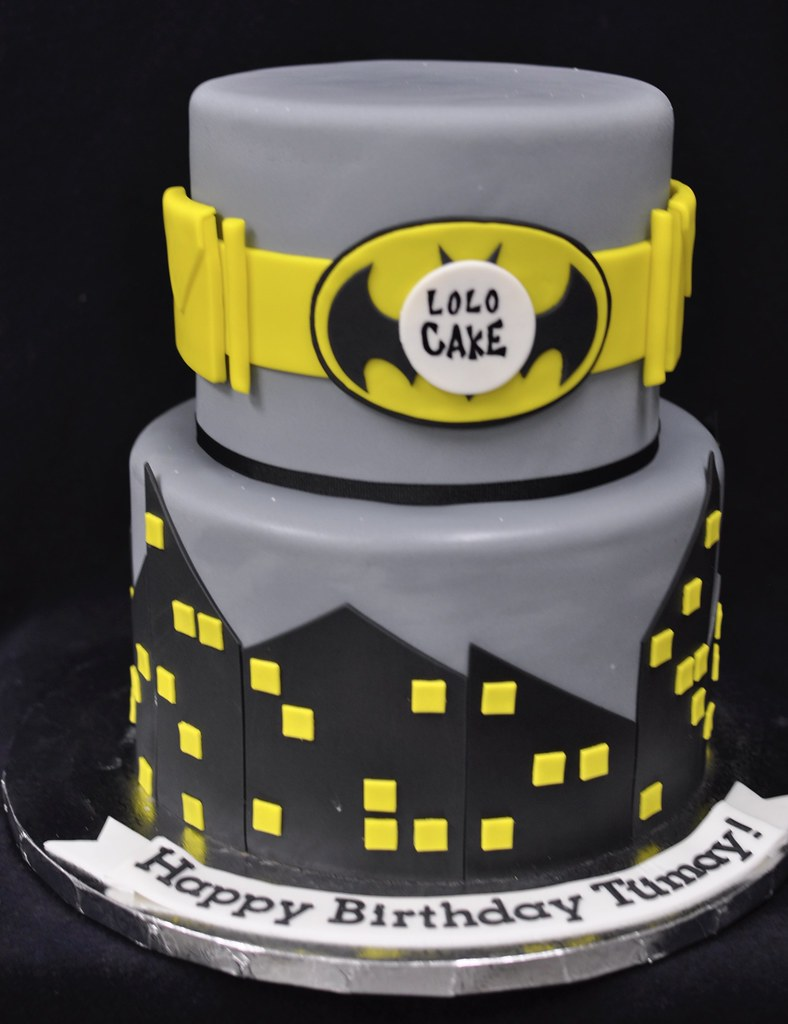 Batman Themed Birthday Cake Jenny Wenny Flickr