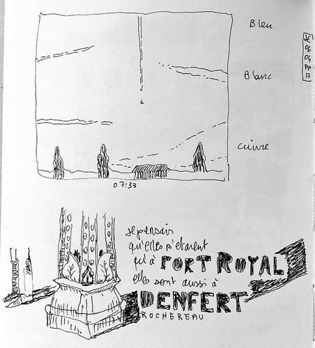 Je pensais qu'elles n'étaient qu'à port royal. Elle sont aussi à Denfert Rochereau. #pigmamicron