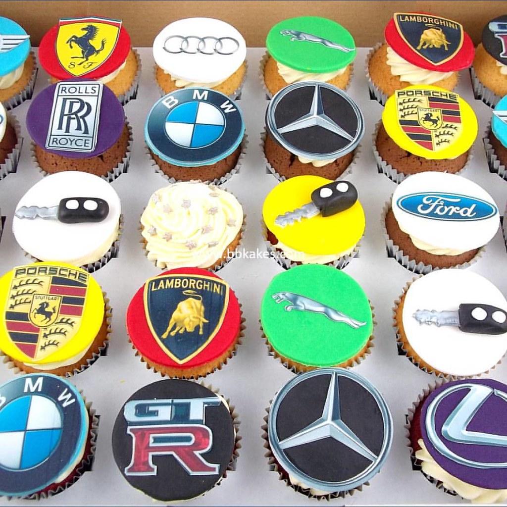 Luxury Car Birthday Cupcakes Bbkakes Cupcake Luxurybran Flickr