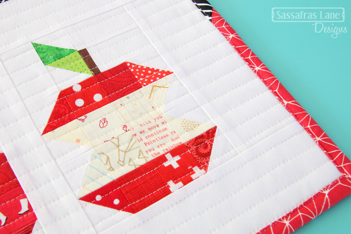 Patchwork Apple Mini Quilt