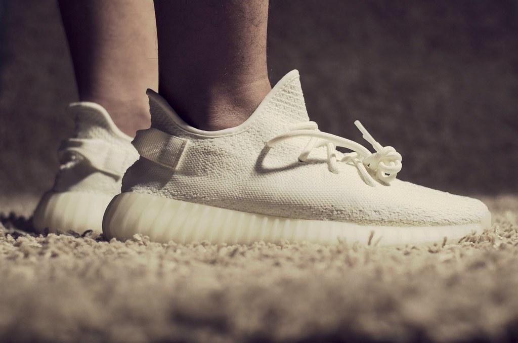 e8620c357adaf ... inexpensive adidas yeezy boost 350 v2 cream white on feet by hafidh  luthfi 48f17 faf39