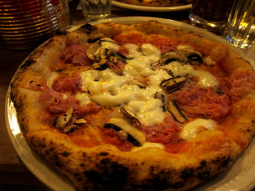 Prosciutto Cotto and Mushroom Pizza