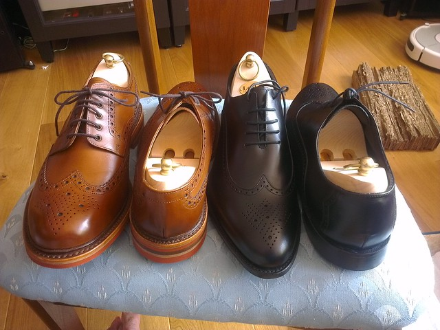 Loake Black Leather Lace Up Shoes