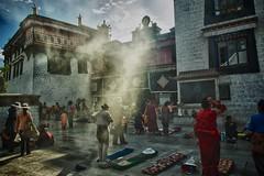 Lhasa Jokhang Tibetan Buddhist Monastery Morning