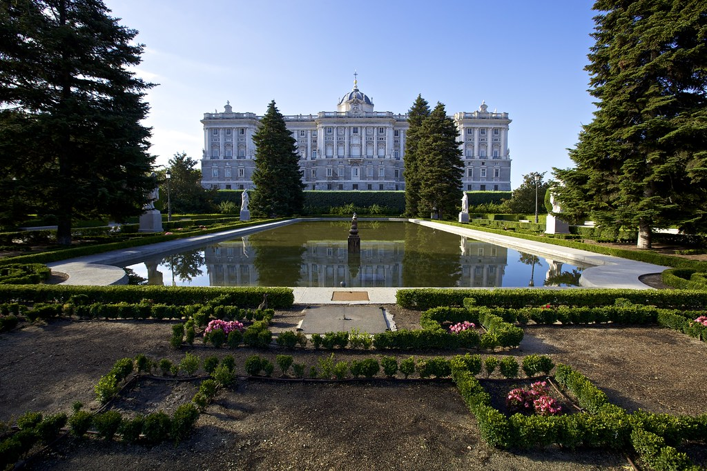 jardines de sabatini palacio real de madrid
