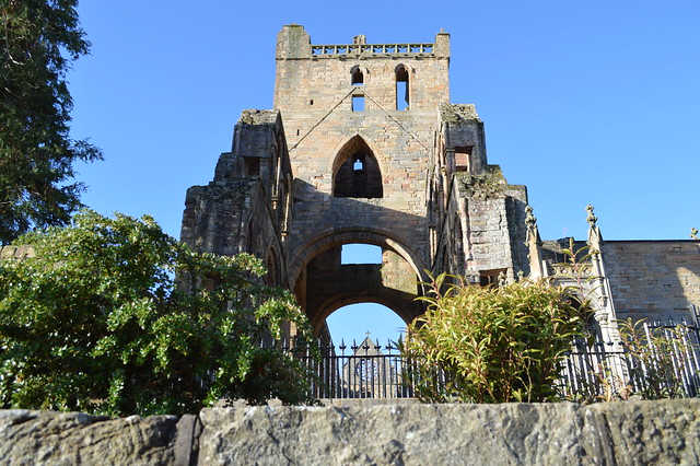 Jedburgh United Kingdom  City pictures : Jedburgh Abbey in the town of Jedburgh, Scotland, UK United Kingdom ...