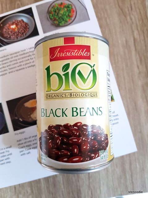 can of organic black beans