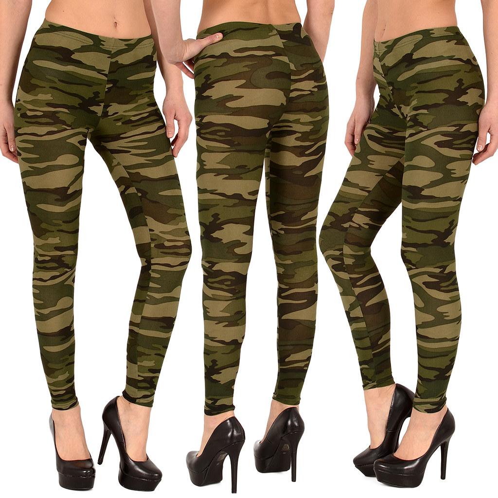 damen leggings leggins legging hose army look leging. Black Bedroom Furniture Sets. Home Design Ideas