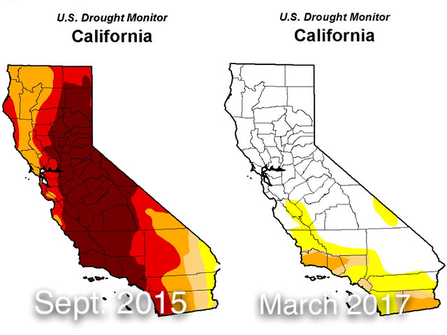 These Maps From The U S Drought Monitor Show How Conditions Have Improved For The First Portions Of San Joaquin