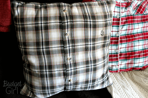 DIY Pillow Covers From Old Shirts Tastefully Eclectic Extraordinary Button Up Shirt Pillow Covers
