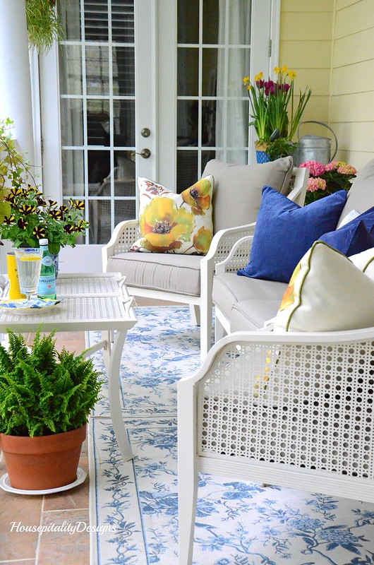 Spring Porch-Blue and White-Housepitality Designs