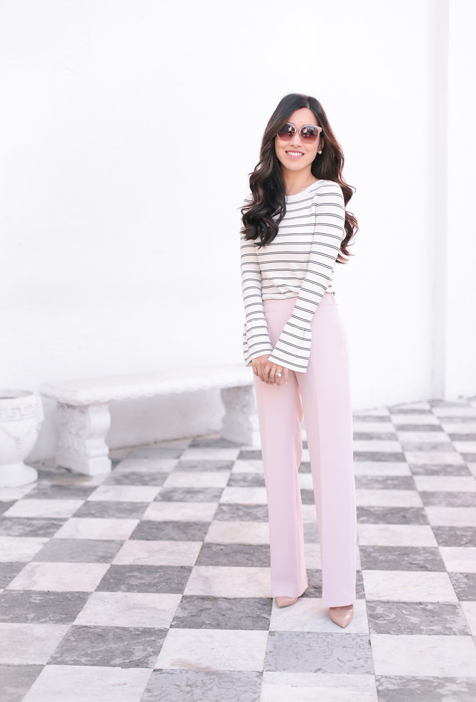 spring work clothing wide leg pants petite style