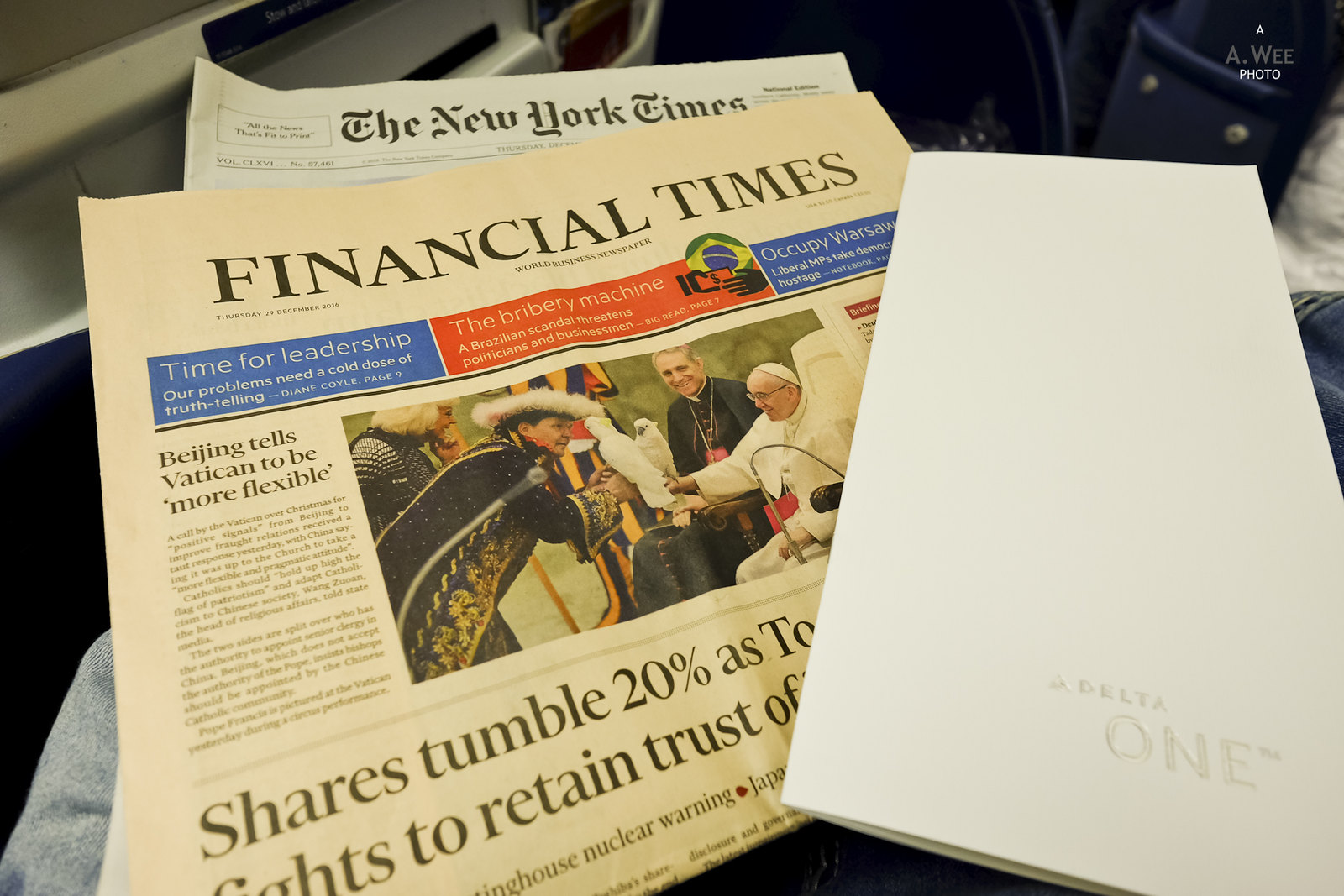Financial Times and Menu