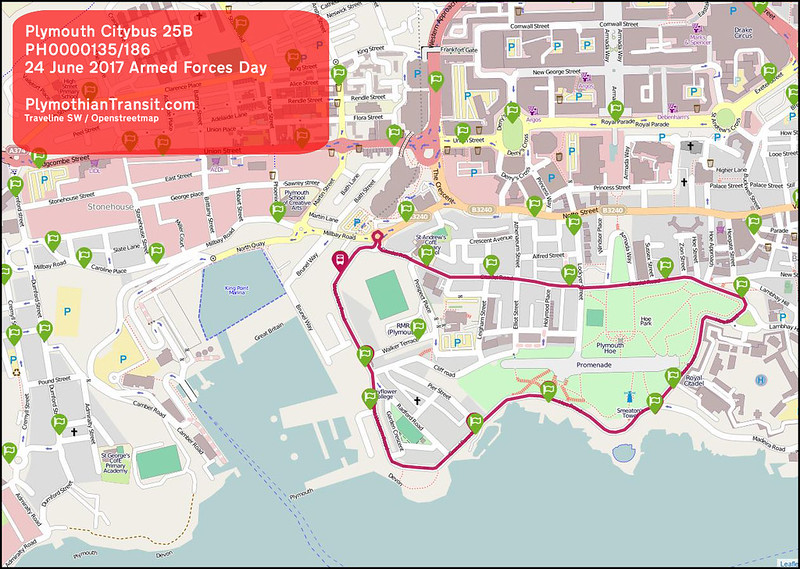2017 06 24 PLYMOUTH CITYBUS LTD ROUTE-025B MAP
